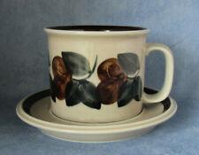 ARABIA OF FINLAND, Vintage, Ruija, Big Mug & Saucer, Excellent Condition
