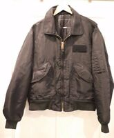 Vintage Bomber Jacket Flight MA-1 Military Jacket Black