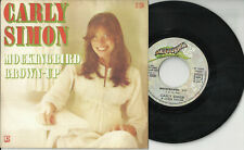 CARLY SIMON 2 track pic sleeve 45 MOCKINGBIRD Grown-Up France