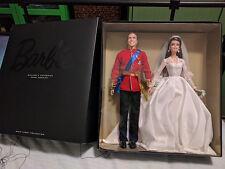 Barbie Genuine Unopened William & Catherine Kate Wedding Dolls