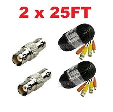 (2) Pack 25ft Pre-made All-in-One Video & Power for Swann CCTV Security Camera