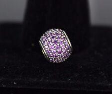 $70 Pandora ALE Sterling Silver Purple Cubic Zirconia Pavé Lights Bracelet Charm