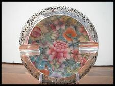 CHINE COUPE PORCELAINE MONTURE ARGENTE QIANLONG MARK / HAND PAINTED CHINESE BOWL