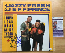DJ JAZZY JEFF & THE FRESH PRINCE SIGNED I THINK I CAN BEAT MIKE TYSON VINYL JSA