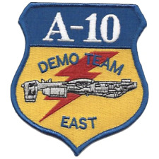 """4"""" AIR FORCES A-10 DEMO TEAM EAST EMBROIDERED PATCH"""