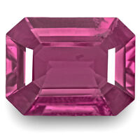 GIA Certified BURMA Spinel 8.72 Cts Natural Untreated Deep Pink Octagonal