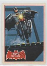 1989 Topps Batman Deluxe Reissue Edition Red Bat #10A Cycling Crusader Card 2u3