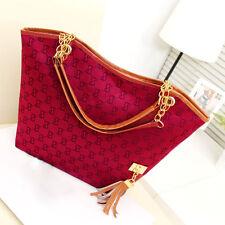Rare Designer Style Red Fashion Tassel Handbag