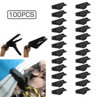 20/50/100 PCS 3.5cm Awning Tent Clamp Tarp Clips Kit Canopy Snap Hangers Camping
