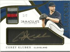 2018 Immaculate Corey Kluber Autograph Auto Patch Clutch SSP #/7 - INDIANS
