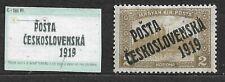 Czechoslovakia, Posta 1919 Mi. 134, overprint type III.