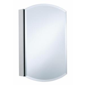 Medicine Cabinet Mirrored Recessed Single Door Anodized Aluminum 20 x 31 Inch