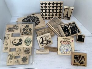 Lot of stamps, Some background & Some Stampin' Up!