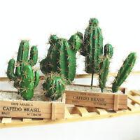 DIY Plastic Miniature Succulents Fake Plant Artificial Cactus Floral Decor