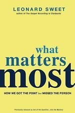 What Matters Most: How We Got the Point but Missed the Person-ExLibrary