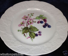 "LIERRE SAUVAGE CNP FRANCE SALAD DESSERT PLATE 8"" BLACKBERRIES EMBOSSED VINE RIM"