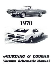 1970 70 MUSTANG/MACH  1 COUGAR VACUUM SCHEMATIC
