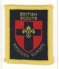 UNITED KINGDOM / UK SCOUT - BRITISH SCOUTS WESTERN EUROPE COUNTY BOUND Patch