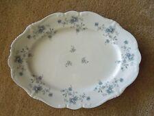 """Vintage Johann Haviland China Small Platter 12 7/8"""" Blue Garland Wedding"""