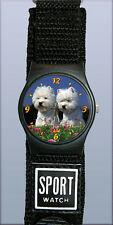 Montre Sport Chien WESTIE - Watch WEST HIGHLAND WHITE TERRIER DOG