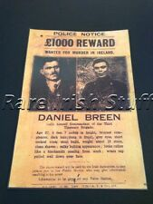 Dan Breen - 1921 Irish Tipperary IRA Rebel - Wanted & Reward By English Print
