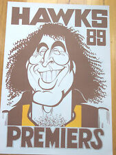 HAWTHORN FOOTBALL CLUB - JOHN PLATTEN - WEG POSTER - PREMIERS - 1989