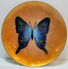 Mid Century Modern Bovano Enamel Butterfly Tray beautiful detail trinket McM