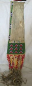 SOUIX -  BEADED - QUILL - TOBACCO PIPE BAG - LATE 1800'S