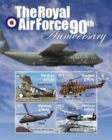 Maldives - Royal Air Force Stamp - Sheet of 4 MNH