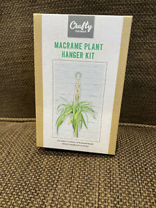 New Craft Kit- macrame plant hanger kit.
