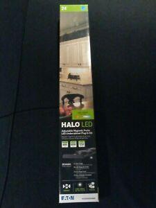 24'' Halo LED Adjustable Magnetic Pucks Undercabinet Plug-In Kit