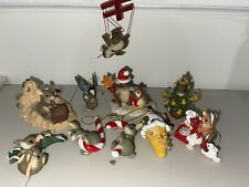 Charming Tails Lot Of Mice Dean Griff/ 12 Days Of Christmas Series Ff Ornaments