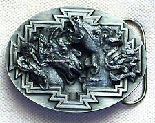 Gürtelschnalle Mustang Wildpferd Pferd Wildhorse Buckle Metall