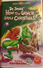 dr seuss how grinch stole christmas vhs horton who video tape clamshell 65409 - How The Grinch Stole Christmas Vhs