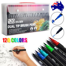 120pcs Brush Markers Pen Art Set Drawing Painting Watercolour Artist Sketch Gift