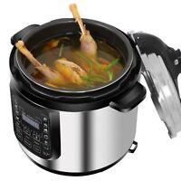 6.3Qt Digital Pressure Cooker 10 Presets LED Screen Good Kitchen Home Assistant