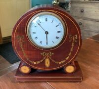 Antique Mantle Shelf Clock w/ Inlaid Case