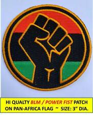 Power Fist Pan-Africa Flag Black Lives Matter Blm Embroidered Patch Iron-On/Sew