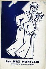 LES MAX MONCLAIR (Dance): Original Postcard