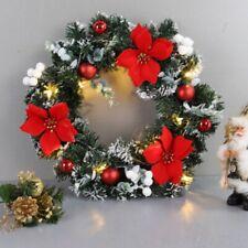 Christmas Xmas Decor Led Wreath Window Front Door Wall Hanging Tree Garland Bell