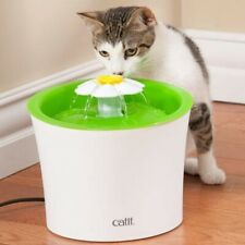 Catit Senses 2.0 Flower Cat Puppy Dog Electric Water Drinking Fountain Bundle