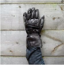 ROLAND SANDS RSD DOMINO LEATHER MOTORCYCLE GLOVES BLACK LARGE L