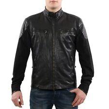MATCHLESS Herren Nylon Leder Jacke MOLD BLOUSON Black Größe L
