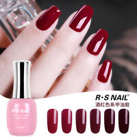RS NAIL Gel Nail Polish UV LED Varnish Wine Red Colour Gel 15ml
