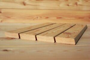 Rhombusleiste 20x70mm Hartholz Sibirische Lärche Holzleiste Sichtschutz Fassade