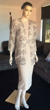 Vintage 80s 2pc Ensemble Dress Sheer Jacket Mother Of The Bride Evening Large