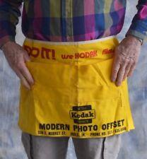 Vtg Yellow Canvas Kodak Lab Apron Indy In Do It Use Kodak Film & Plates
