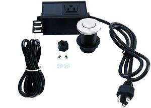 Garbage Disposal Air Switch Kit Single Outlet Single Control On/Off Air Button