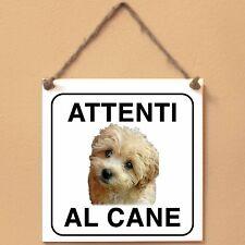 Maltipoo 1 Attenti al cane Targa cane cartello ceramic tiles