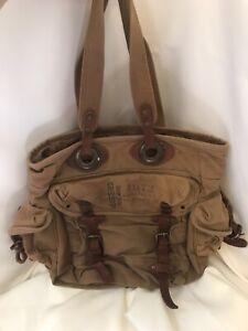 Kakadu Traders Australia KTA Canvas And Leather Shoulder Bag